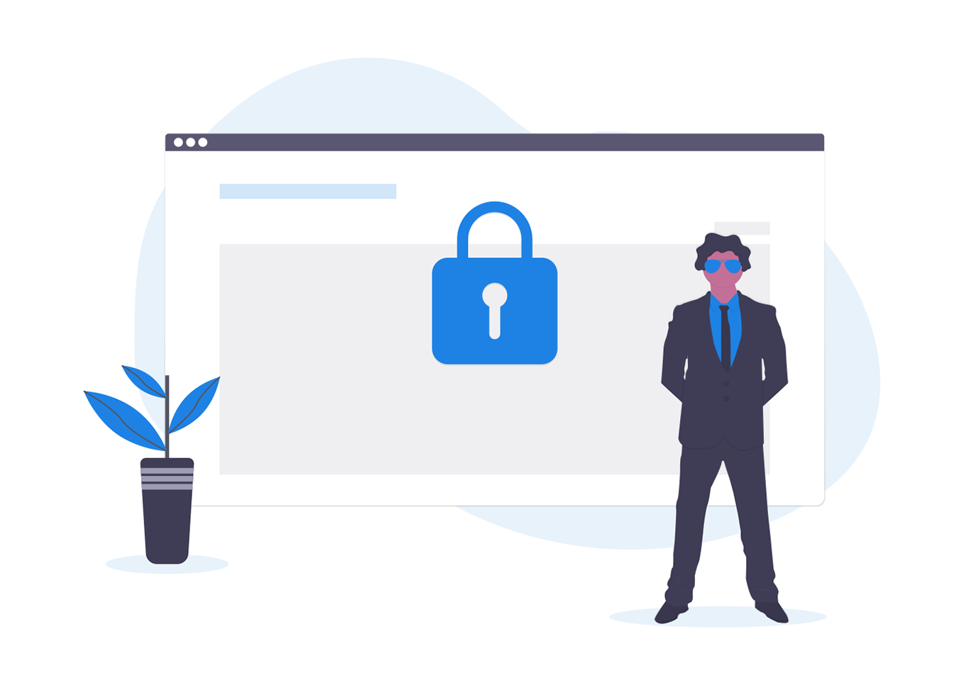 web meeting - icon Security